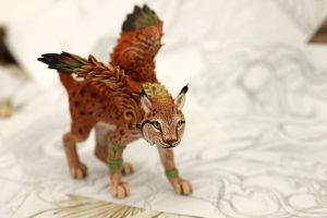 Winged lynx by hontor