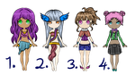 Humanoid Adoptables - CLOSED by Blithe-Adopts