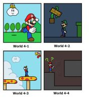 SMB: World 4 by minimariodrawer