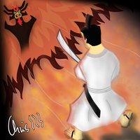 Samurai Jack - Fight against AKU by ChrisM96