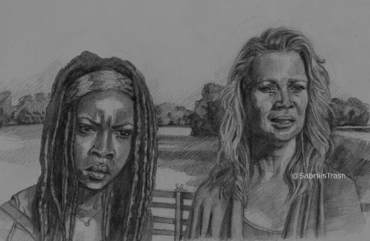 Michonne e Andrea of The Walking Dead by Sabriiistrash