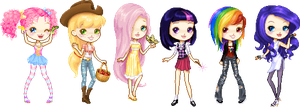 My Little Chibis by MAGICatMIDNIGHT