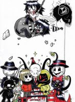 Slenderman's Party! (Coloured.) :3 by ShannonxNaruto