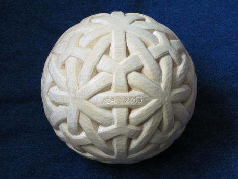 Knotwork Sphere by geometreeoflife