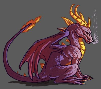 Grumpypants Spyro by AbelPhee
