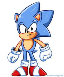 Classic Sonic by ChemicalDragon92