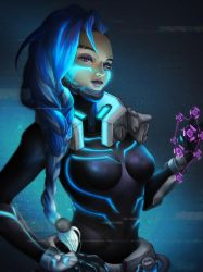 Cyberspace Sombra - Overwatch by Totemos