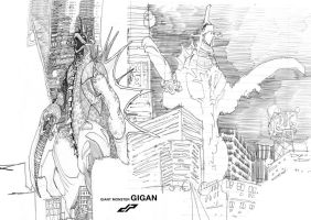 Gigan_sketches by dopepope