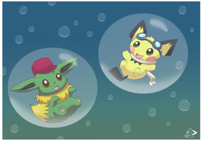 Floating in bubbles by pichu90