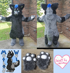 Montley wolf (commission) by Kawaii-fur-costumes