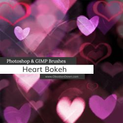 Heart Bokeh Photoshop and GIMP Brushes by redheadstock