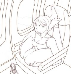 Jet Airliner - lineart by twistgee