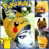 Pikachu Hat by Butterscotch-Llama
