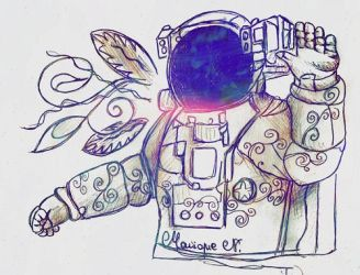 The Astronaut's Goodbye by MoniqueNamie
