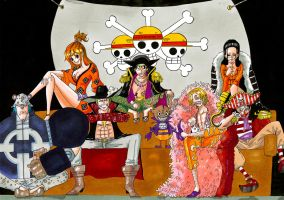 ONE PIECE - Straw Hat Crew X Schichibukai by Why2be
