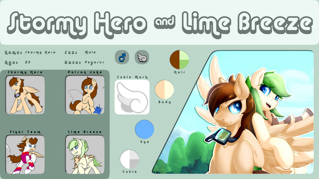 Hero Ref Sheet and Lime Breeze Ref Sheet by Rayhiros