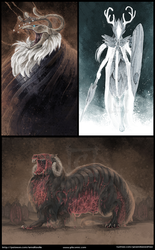 Monster Concepts by MikaelHankonen