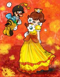 Mario: Bees and Daisies by saiiko