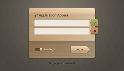 Free Wooden User Interface Login Design for Photos by ramijames
