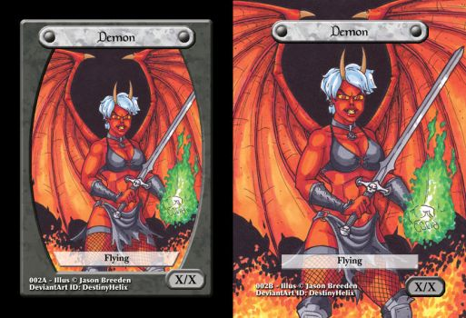 Custom Magic Token #2 - Demon by JasonRocket