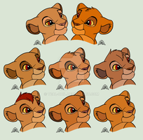 Sarabi and Mufasa Adopts (3 LEFT) by Teal-Quil