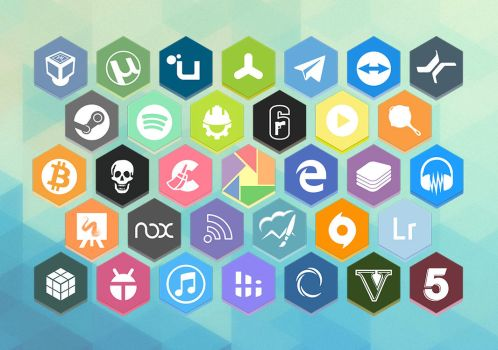 Honeycomb Hexy Icons v1.2 by aD-1