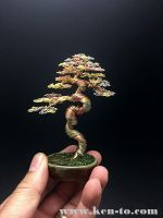 3-color literati wire bonsai tree by Ken To by KenToArt