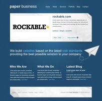 paper business PSD template by joefrey01