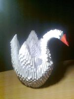 3D origami swan by Michaelle111
