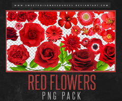 Red Flowers | PNG by sweetpoisonresources