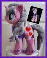 mlp plushie commission SMILEY CORA by CINNAMON-STITCH