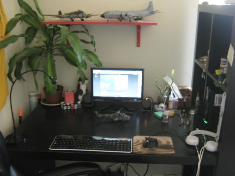 My work space by Coffeebean2