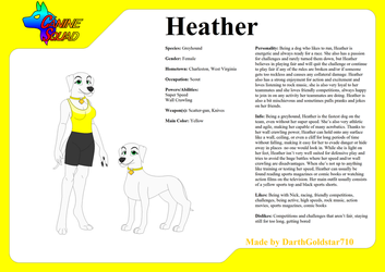Canine Squad Ref. Sheet: Heather by DarthGoldstar710
