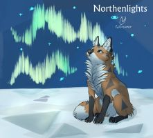 Northenlights fox by PalDreamer