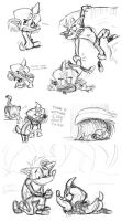 Cortex Bandicoot LS Sketches by Nintendo-Nut1