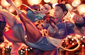 Chun-Li VS Cammy by MattDeMino