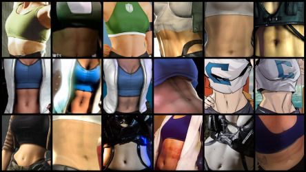 Sonya Blade and Cassie Cage Belly Collection by JMarvelhero