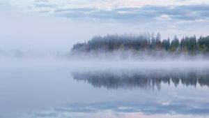 Foggy lake by JuhaniViitanen