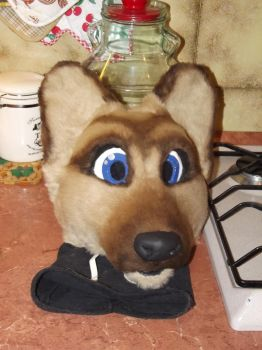 German Shepherd fursuit head by Silenthowl7