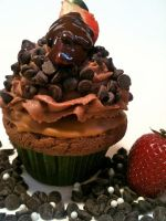 The Berry Chocolate Fantasy Cupcake by Deathbypuddle