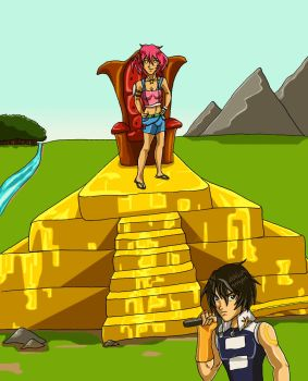 Golden Pyramid by SteelFanged