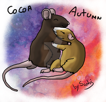 Cocoa and Autumn (KitlynSolstice rats) by Scotis