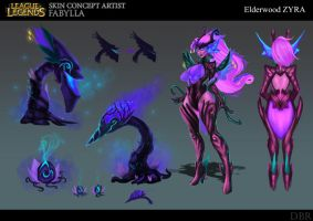 Elder wood Zyra concept art by DBR01