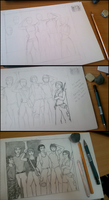 Sketching In Process by Morann