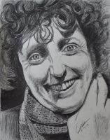 Tom Baker as The Doctor by PinEyedGirl
