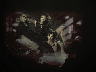 Stefan, elena and damon by VeEee007