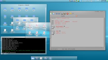 Developing on Rails in KDE by 42nt1