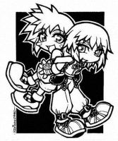KH Boyz Riku and Sora by dizziness