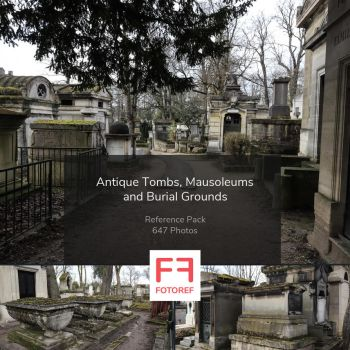 Antique Tombs, Mausoleums and Burial Grounds by Fotoref