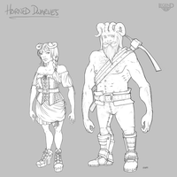 Legend Concept: Horned Dwarves by Khalo